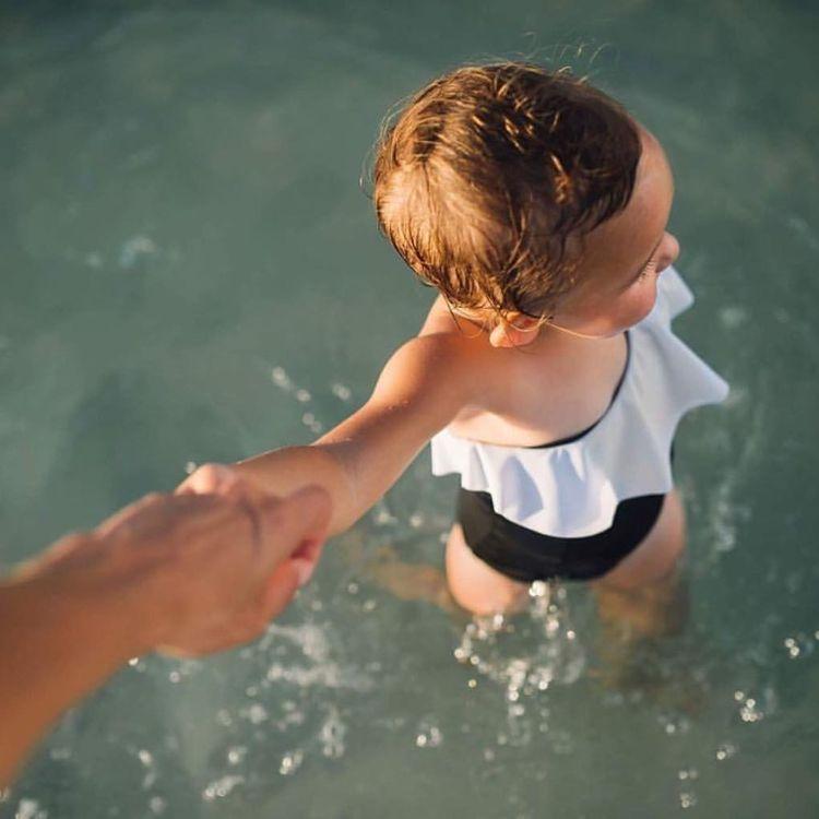 Floatimini Little Girls Spanish Tile Capri Swim Tights