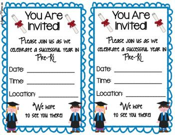 prek or preschool graduation certificates diplomas and inv