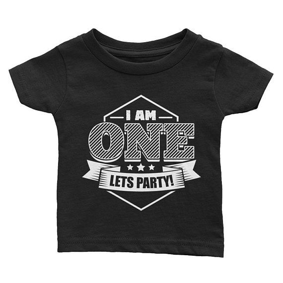 1st Birthday Shirt Boy First Outfit One Year Old Gift Im Lets Party