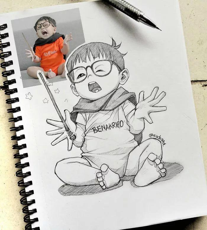 Este ilustrador desenha pessoas como personagem de anime e o resultado é impressionante ⋆ Anime e mangá