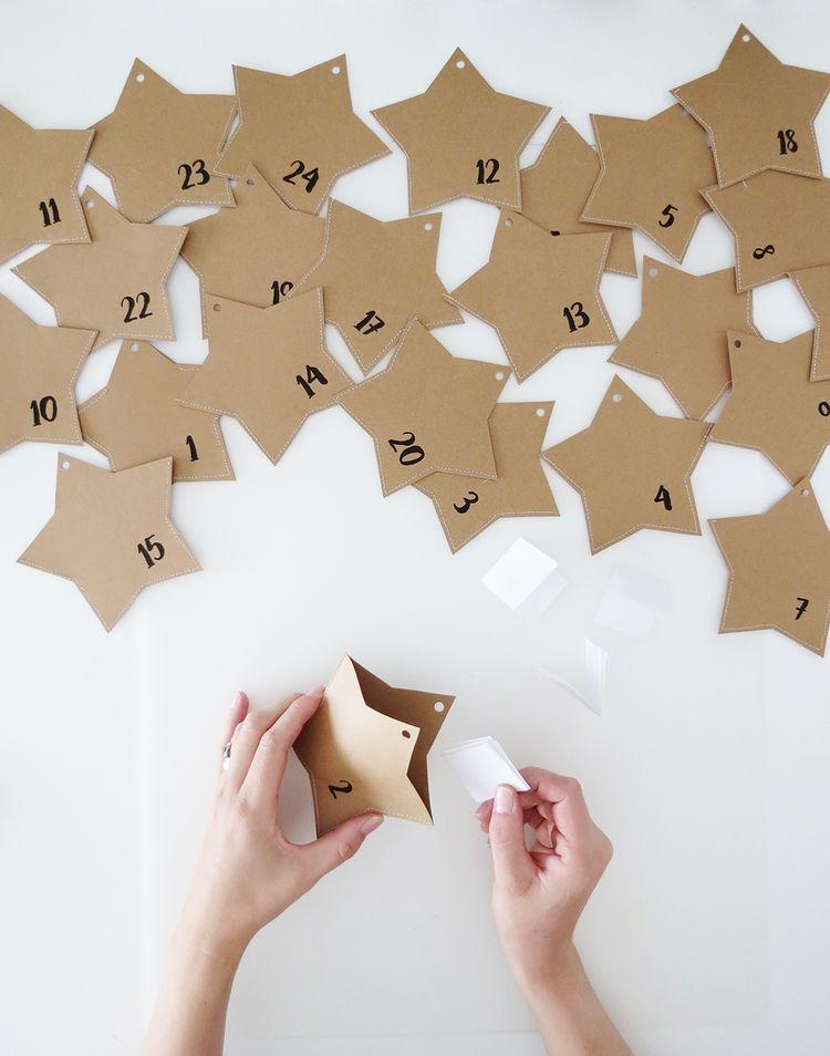 DIY Paper Star Advent Calendar - Ohoh deco