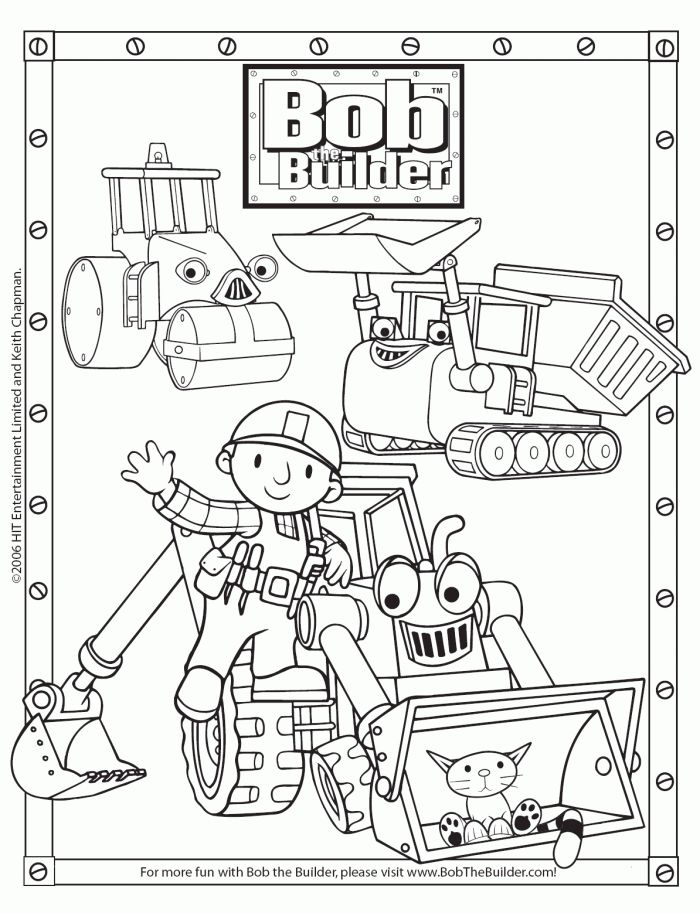 Free Bob The Builder Coloring Pages