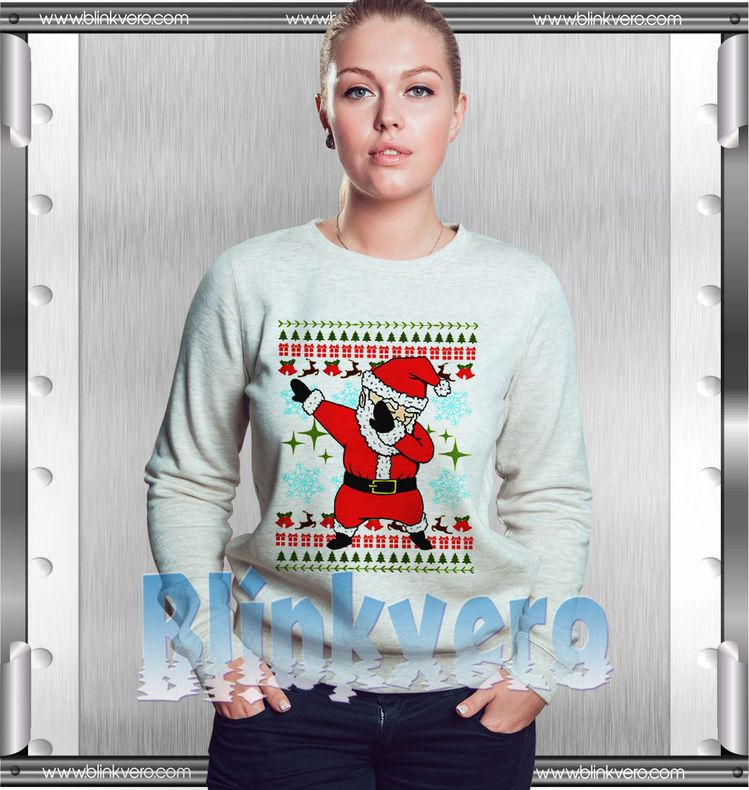 572058fe Santa Dabbing Ugly Christmas Style Shirts For Womens Size S-3XL Unisex  Sweatshirt