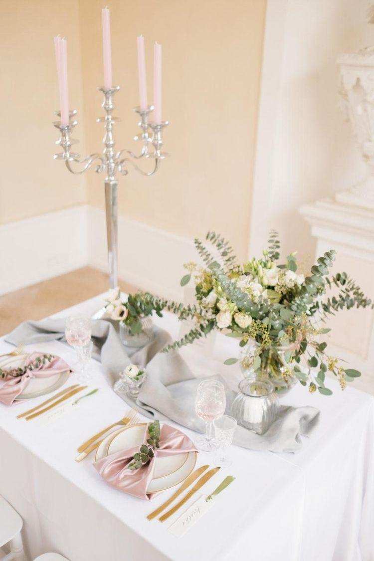 Hochzeitsdeko Moodboard Farben Grun Rosa Gold Ganz Nach