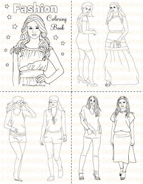 Fashion Coloring Book Printable Fashion Book Girl Women Col