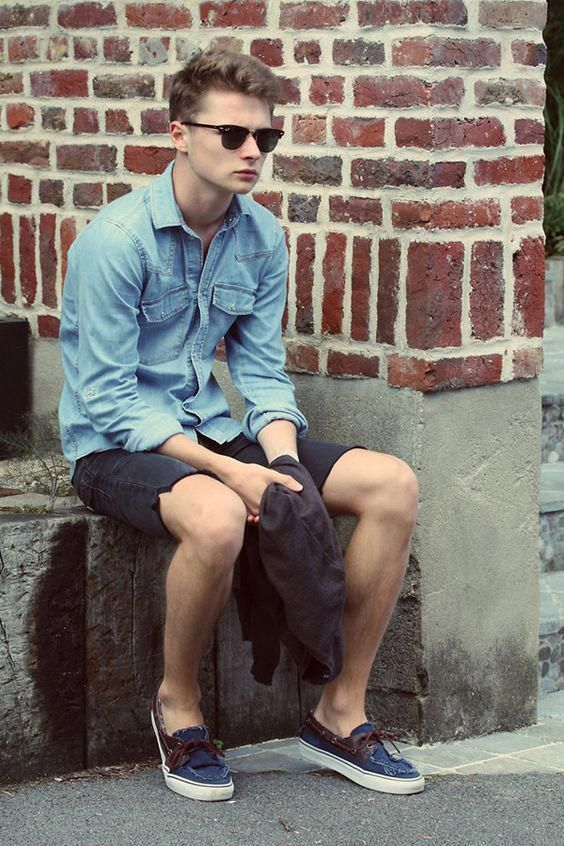 92ac9d6f39 15 Classy   Simple Denim Shirt Outfit for Men in their 20s - TheStyleCity -  Men s