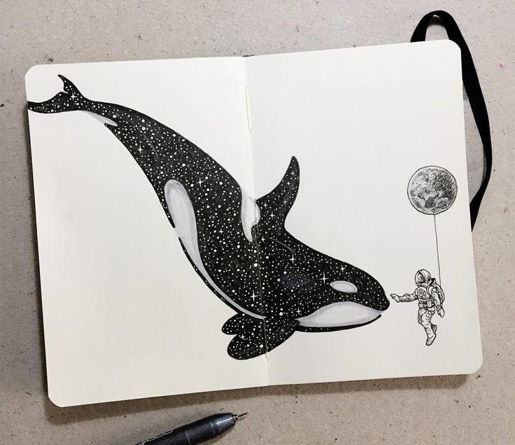 Image © kerby rosanes. #sketchbook #moleskine #art #illustration #sketchbookart