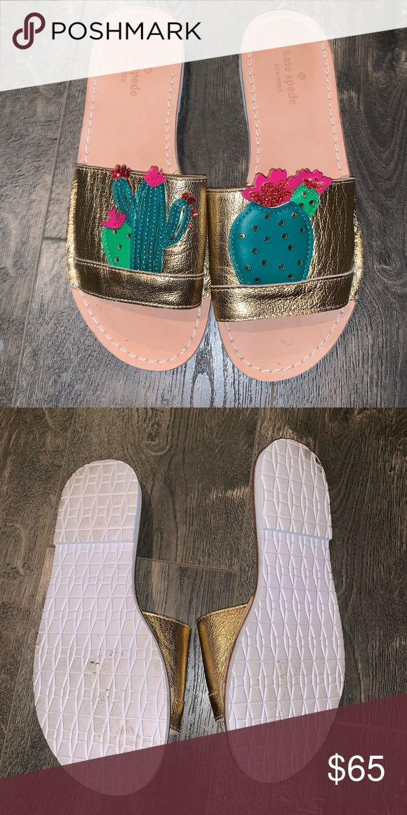 bfdcd4f1cc32 Kate Spade Iguana Cactus Slides Excellent condition. Worn once (inside). Do  not come with box. kate spade Shoes