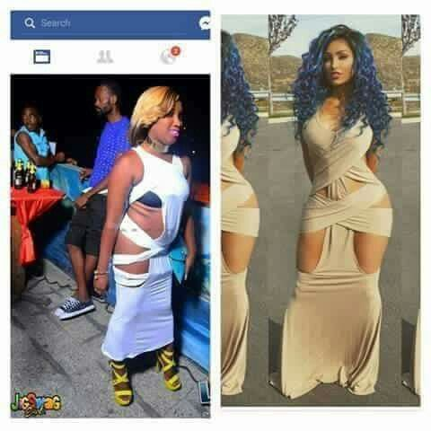 Anyone can purchase a dress but not everyone can wear it 😂🤣😂🤣