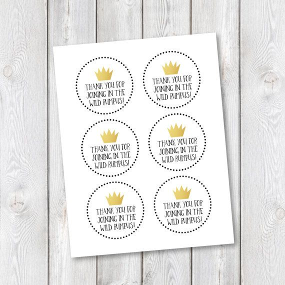 photograph regarding Let the Wild Rumpus Start Printable known as Printable Where by The Wild Variables Are Birthday Prefer Bag Tags