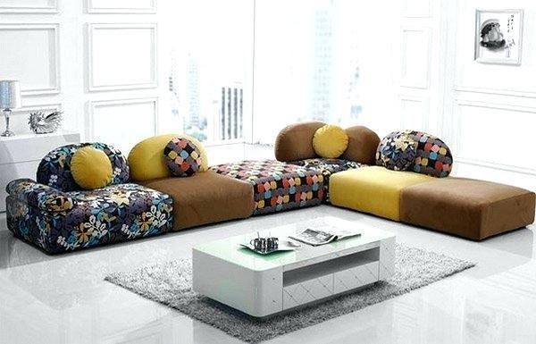 Boden Seating Ideen Wohnzimmer