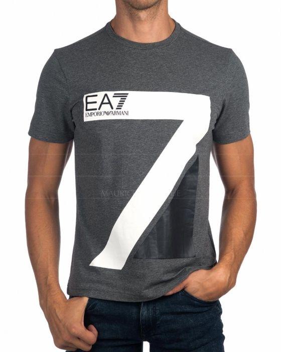 8d8e24a058f Camiseta Emporio Armani EA7 - Azul Marino Train Logo Series