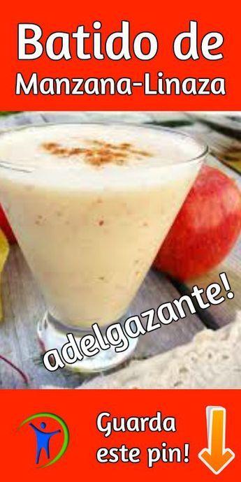 Licuado de avena con manzana para bajar de peso kariniwiii