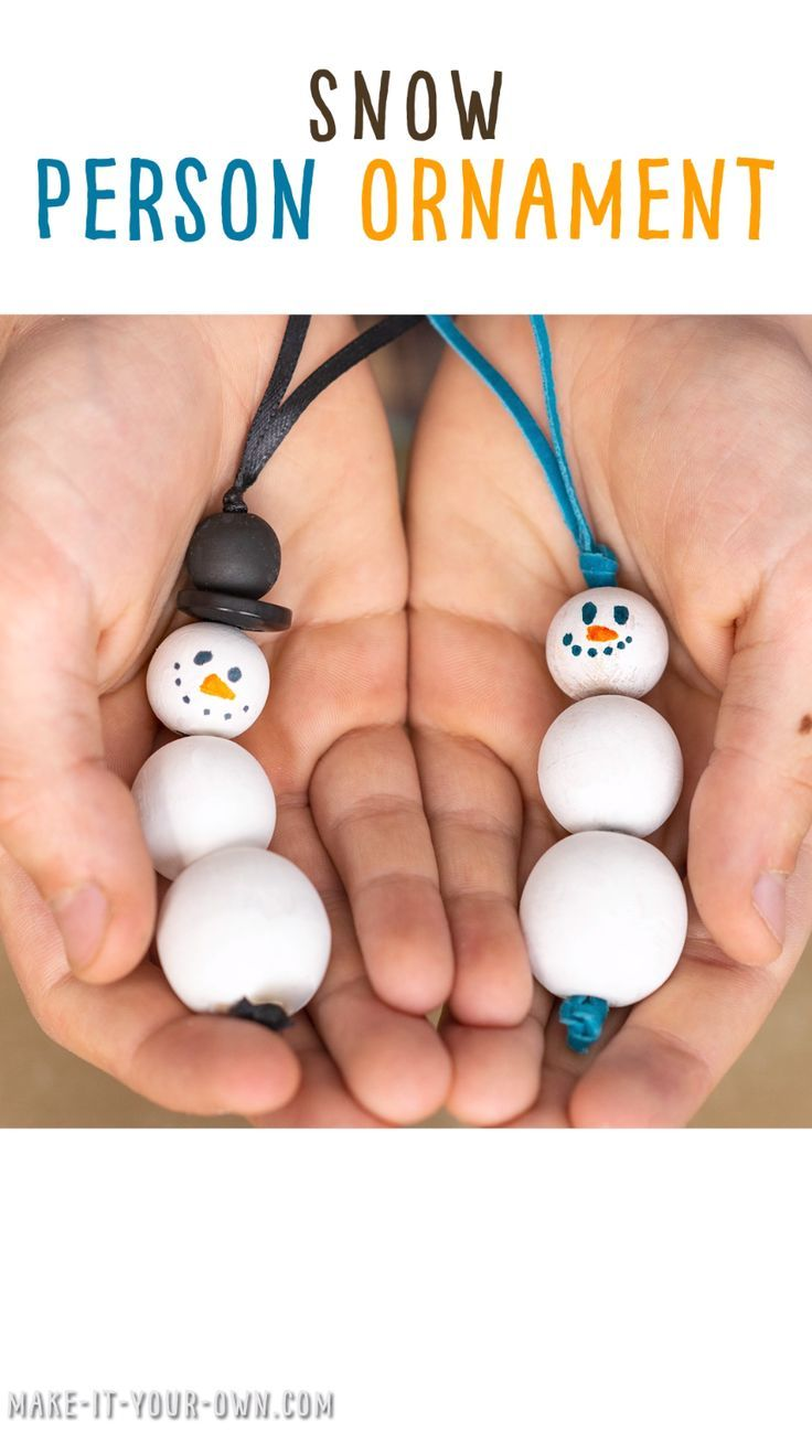 Make a beaded snowman or woman Christmas ornament or holiday gift tag!  This simple winter craft that could also be transformed into a necklace, key chain or zipper pull!