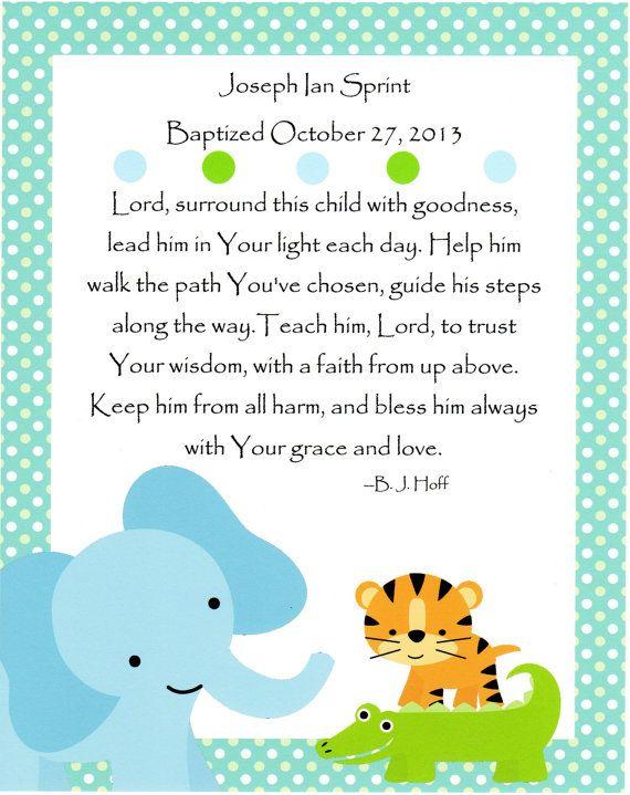 A Prayer For A Baby Boy Baptism Gift Nursery Art Kids Wal