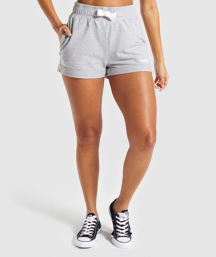 77f8f7e8e21 Gymshark Ark High Waisted Shorts - Light Grey Marl