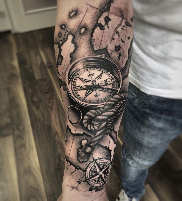 Tattoos motive männer kompass