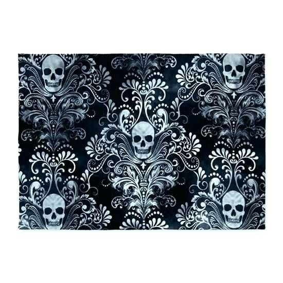Sparkling Sugar Skull Rug Ideas New For Area Rugs Skulls 5 65 Bath