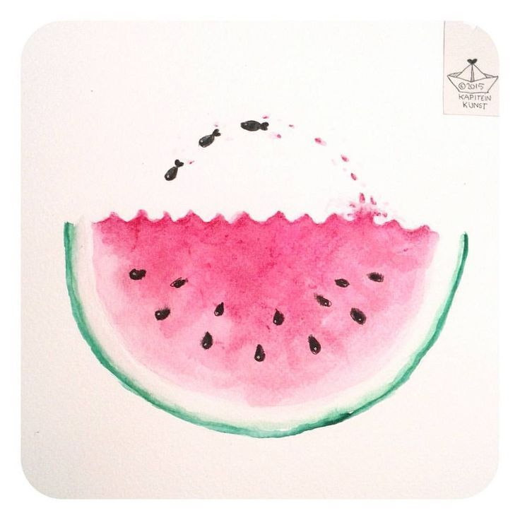 Watermelon fish ツ #365doodleswithjohannafritz ___________________________________ #doodling #doodle #drawdaily #tekening #fish #splash…