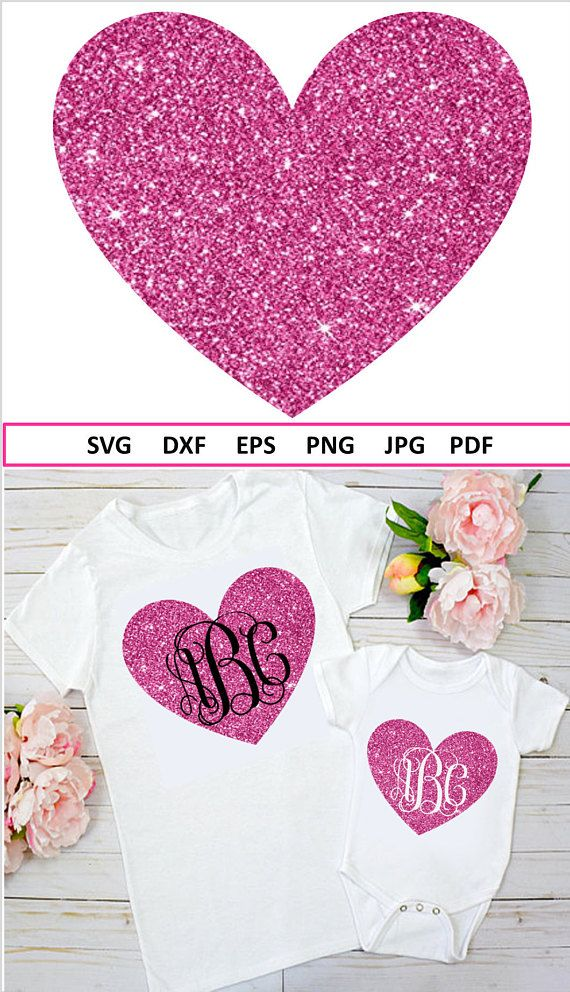 Heart Svg Valentine Monogram Svg For Valentine Svg Files F
