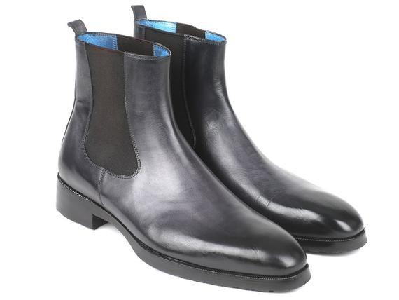 d896ae68a9988 Paul Parkman Black   Gray Chelsea Boots (ID BT661BLK)