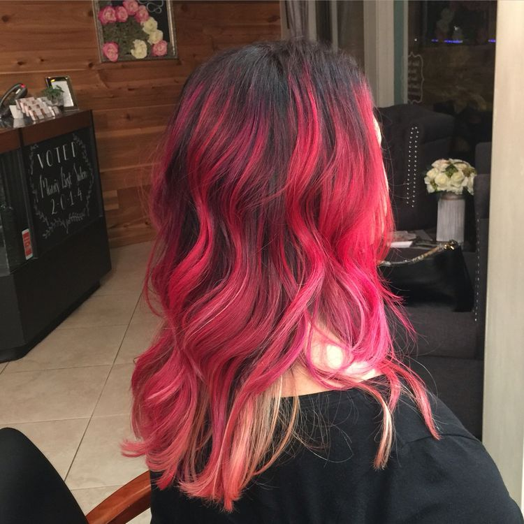 Cherry Bomb Ombre Hair Ombre Elumen Color Dye Baylage