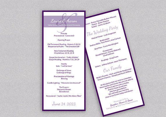 Diy Wedding Program Template Download Instantly Editab