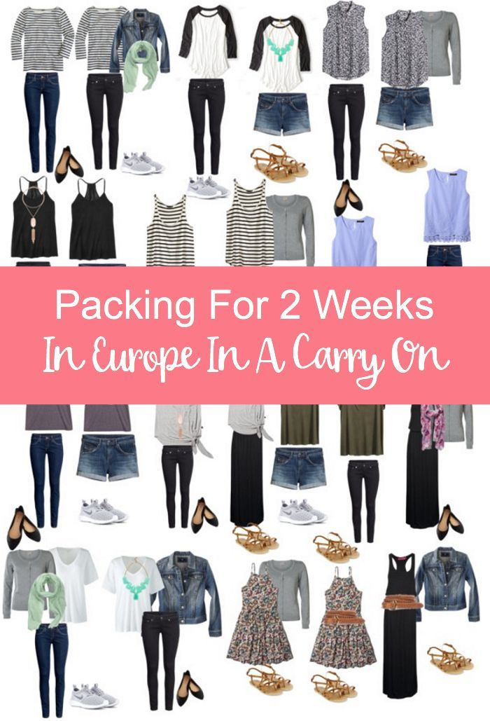 Packing For 2 Weeks In Europe In A Carry On