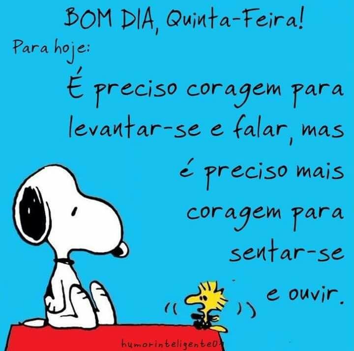 Tag Mensagem Bom Dia Quinta Snoopy