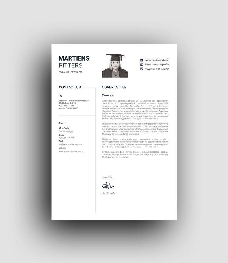 Minimalist Professional Resume Template - Graphic Templates
