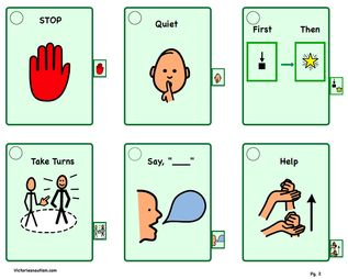Victories And Autism Lots Of Great Printables And Visual T