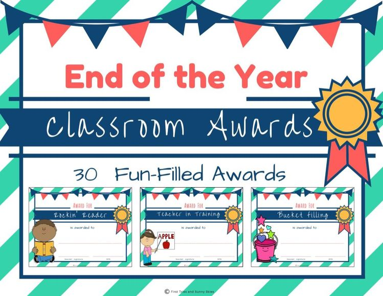 end of the year awards printable student awards classr