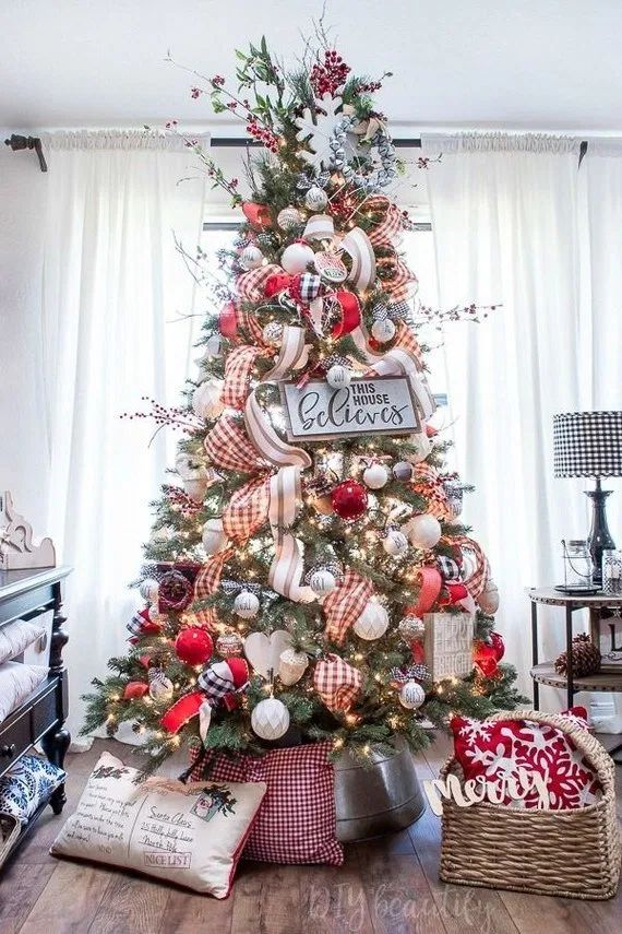 120+ pretty rustic christmas tree decoration ideas 11 | androidtips.me