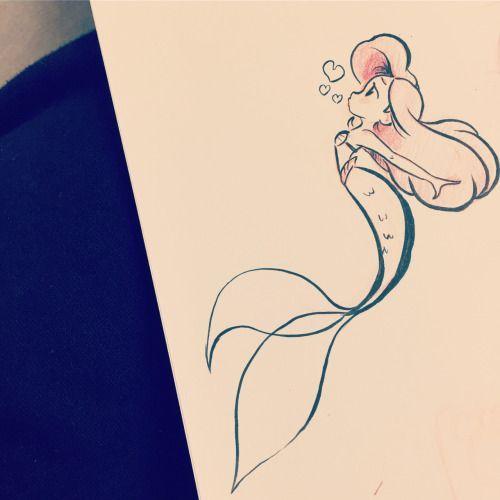 Tatuagem De Disney - A Pequena Sereia ... - TattooViral.com |  Sua fonte do número um para projetos diários do Tattoo, idéias & inspiração