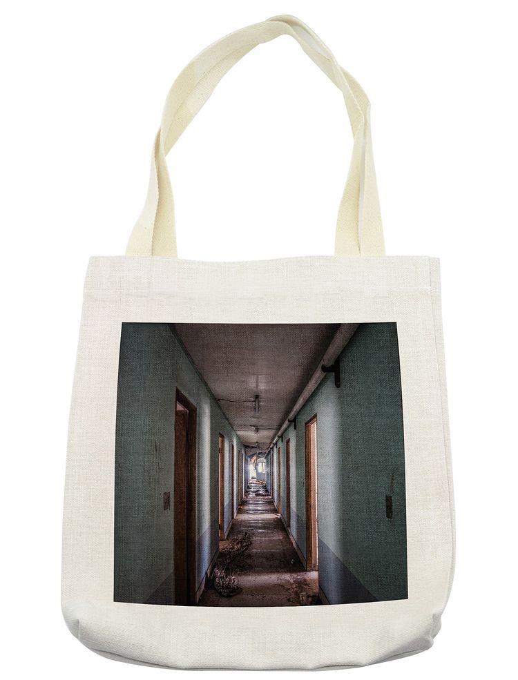 5cb8158bcf0 hospital bag - Lunarable Rustic Tote Bag Interior Hallway of a Korean  Psychiatric Hospital Asylum Nostalgic Picture Print Cloth Linen Reusable Bag  for ...
