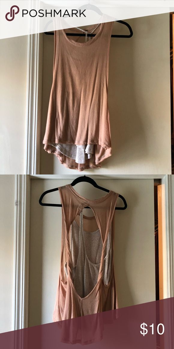 9a97fc62b1f86 Love this free people layered tank top Pink and cream layered tank top from  free people