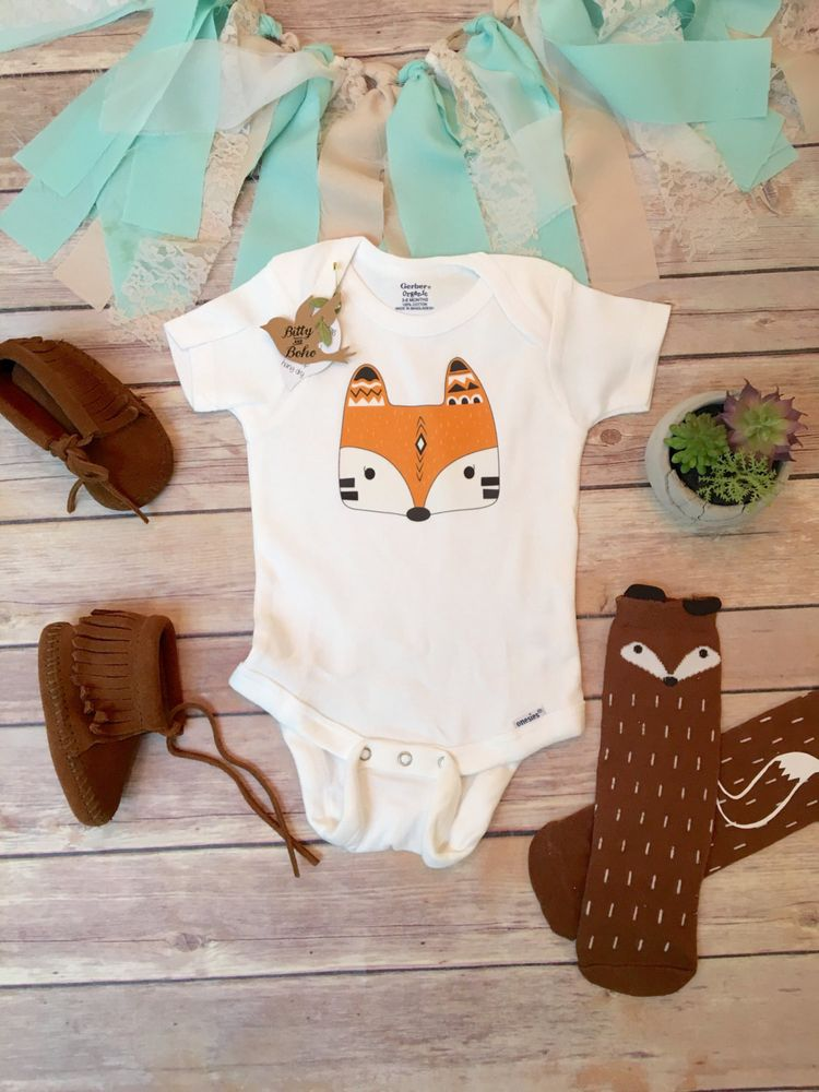 463f96262 Fox Onesie®, Boho Baby Clothes, Baby Shower Gift, Baby Boy Clothes, Boho Baby  Bodysuit, Fox Baby Clothes, Bohemian Baby, Tribal Baby Clothes