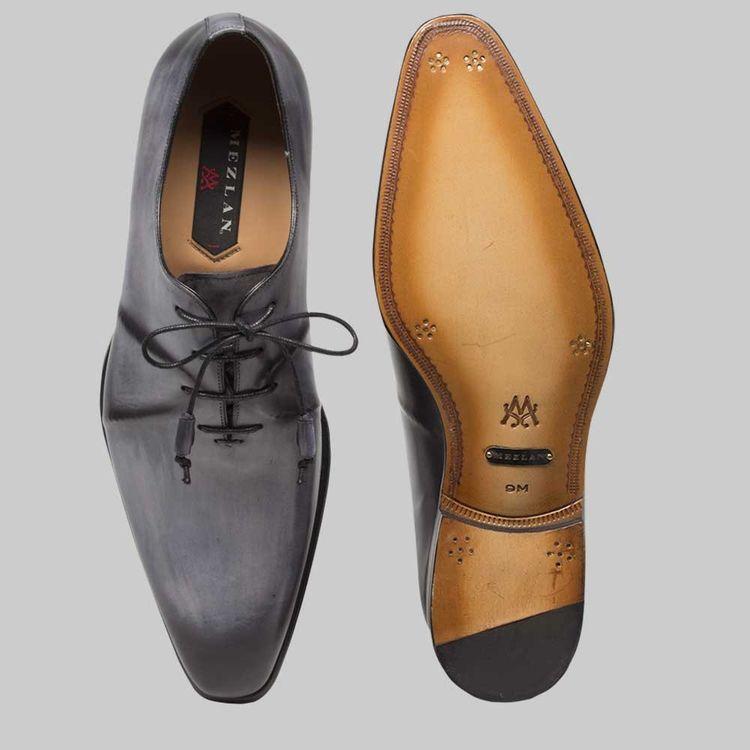 88d4eae737f Mezlan Mens Shoes Lorea Grey Italian Calfskin Oxfords 8233 (MZ2333)