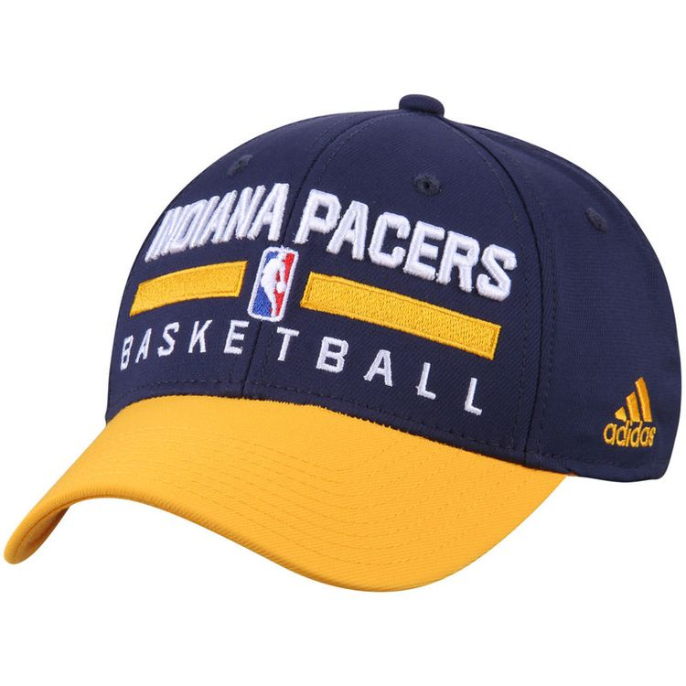 893059681da Indiana Pacers adidas 2-Tone Practice Structured Snapback Hat - Navy Gold