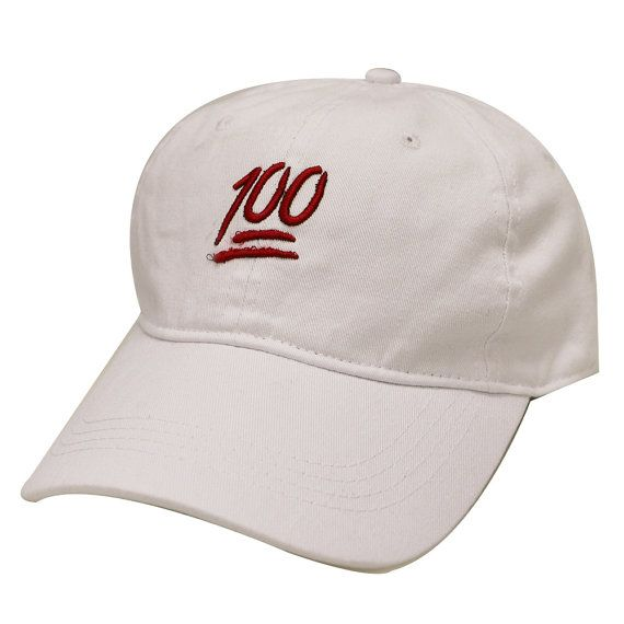 376be0b5419 Capsule Design Emoji 100 Cotton Baseball Dad Cap White