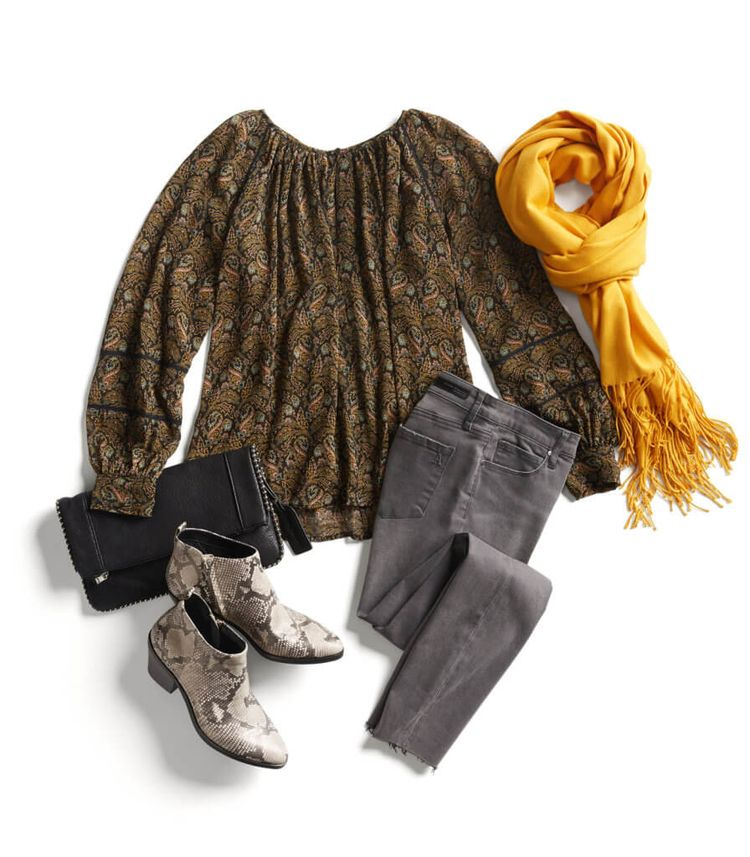 love mixing of these earthy prints and colors. love skinnies, scarves, and snake print. and also the shirt pattern. :)
