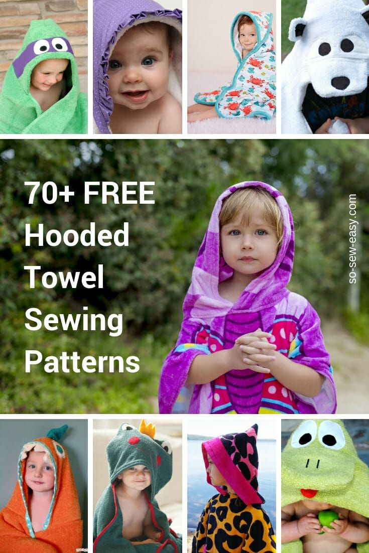 f68b481791358 Hooded Towel Sewing Patterns Roundup