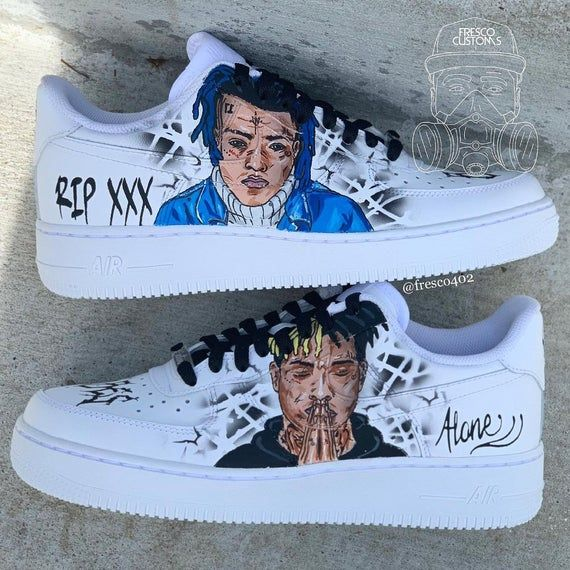 XXX portrait custom. Hand painted/Airbrushed. Made to order, Shoes are %100 authentic. Will take 4-8 weeks. No need for a water proofer, the paint will not come off unless it gets scuffed. No refunds (free shipping in the US) Sizes range from boy's youth to men. Message me on instagram or email me
