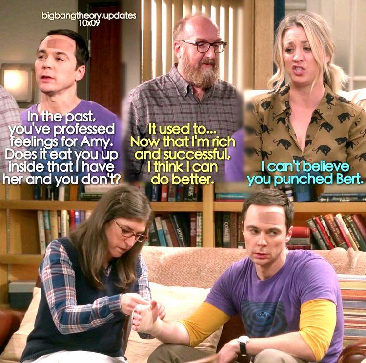 """I can't believe you punched Bert"" - Penny, Amy, Sheldon and Bert #TheBigBangTheory (by bigbangtheory.updates)"