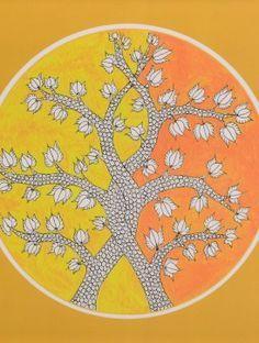 Tree of Life-Gond Art Summer Tray