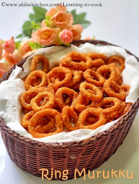 Ring Murukku / Chekodi / chegodilu - yummy n crispy snack , Deepaviali snack recipes, Indian snacks, Indian festival snacks, Diwali sweets and snacks, Andhra Murukku