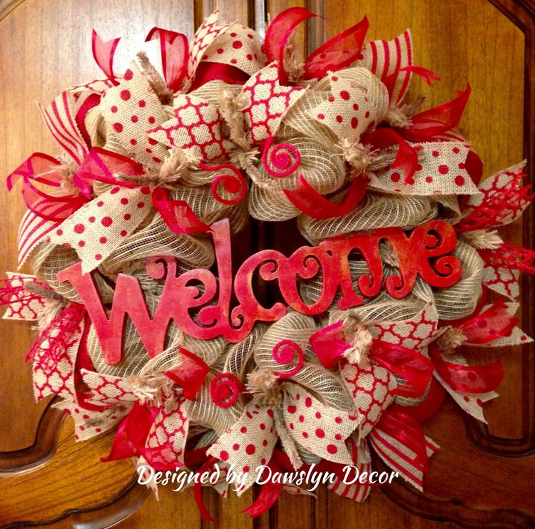 Gorgeous Red Welcome Everyday Wreath Valentine S Day Deco