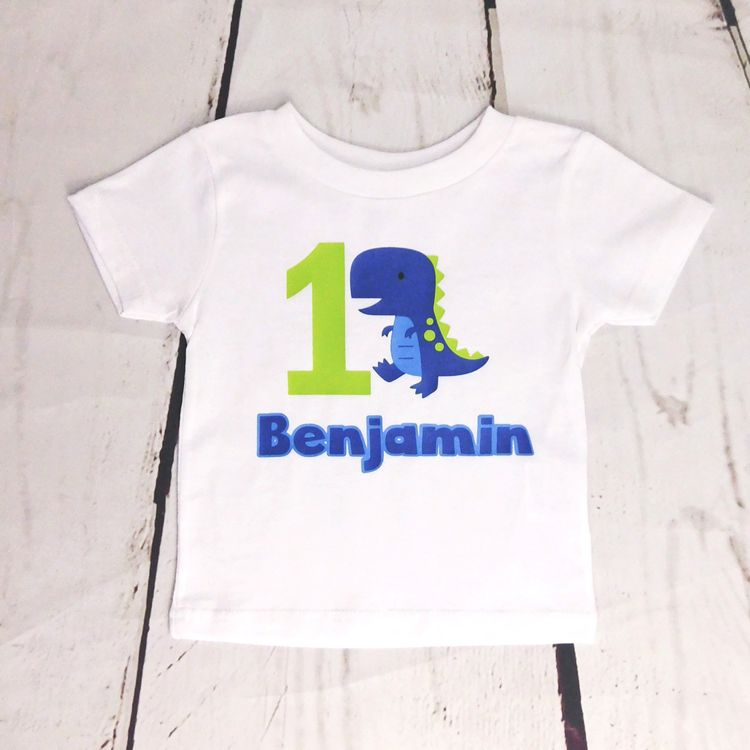ANY AGE Boys Birthday Outfit Dinosaur Shirt Boy One Year Old