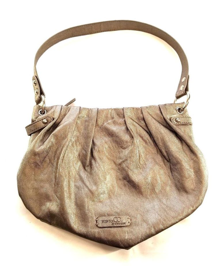 Nine Co By West Purse Handbag Silver Copper Metallic Small One Strap Nineco