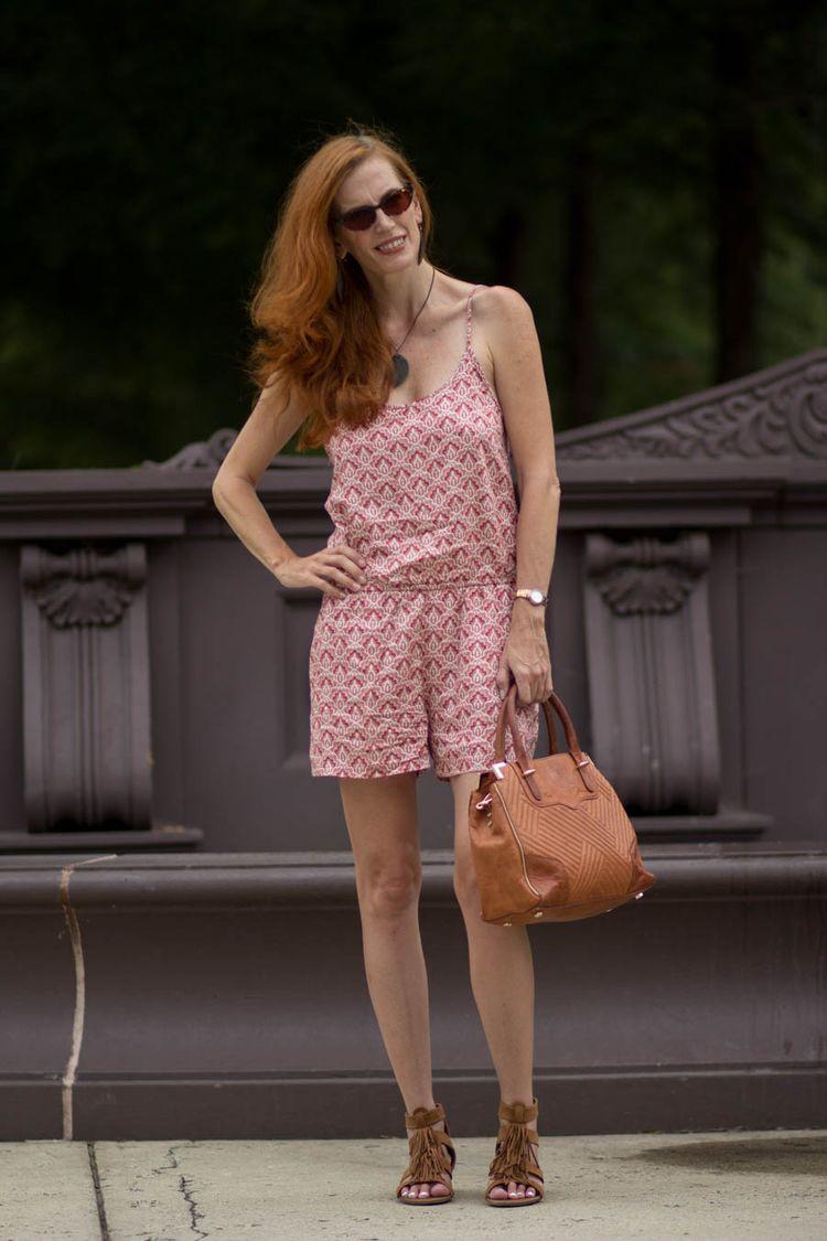 Over 40 : Wearing a Romper - Elegantly Dressed & Stylish - Over 40 Fashion Blog